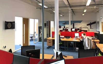 All Settled In To Our New Office